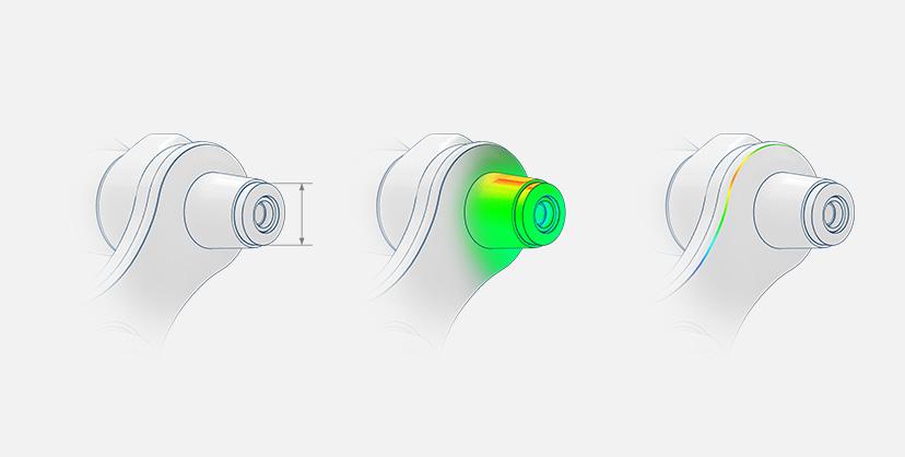 Inspección y evaluación de puntos, superficies y curvas